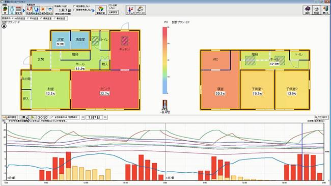 住宅性能診断士 ホームズ君「すまいのエコナビ」室温シミュレーション