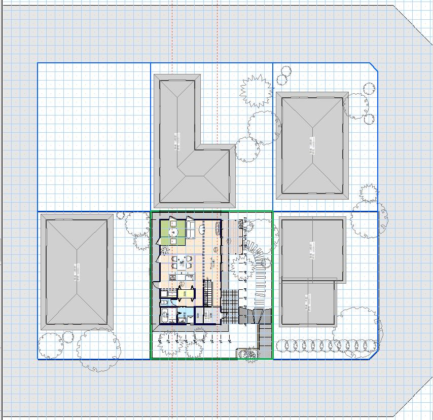 平面図でも隣棟との距離が確認しやすい