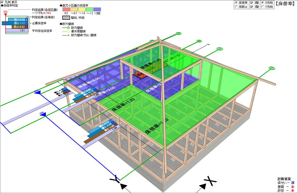 前橋の家構造3Dビューアー (ホームズ君「構造EX」)