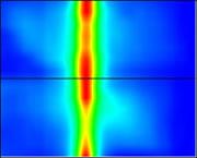 置壁の状態測定結果画面推定線 奥